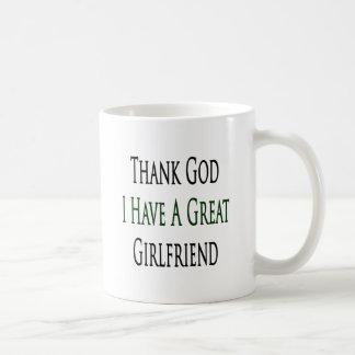 Thank God I Have A Great Girlfriend Basic White Mug