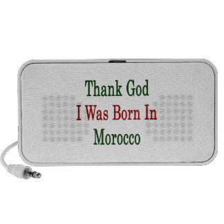 Thank God I Was Born In Morocco Mp3 Speakers