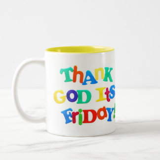 Thank God it s Friday 2 Sided Mug