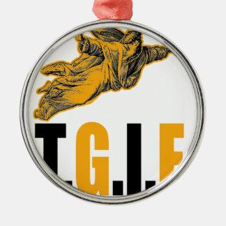 Thank God Its Friday Christmas Ornament
