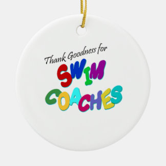 Thank Goodness for Swim Coaches Christmas Ornament