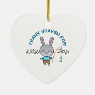 THANK HEAVEN FOR LITTLE CERAMIC HEART DECORATION