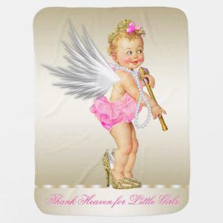 Thank Heaven for Little Girls Angel Girl Baby Blankets