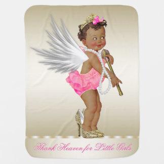 Thank Heaven for Little Girls Ethnic Angel Girl Buggy Blankets