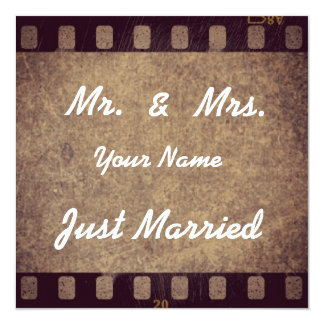 """Thank map """"Just Married """" 13 Cm X 13 Cm Square Invitation Card"""
