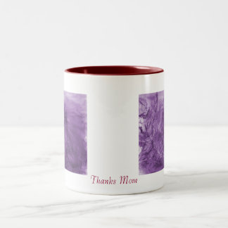 Thank Mom Porcupine Purple 15 oz mug