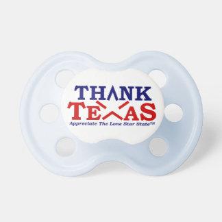 THANK TEXAS Baby Blue Dummy