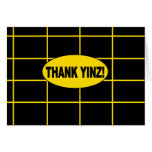 THANK YINZ note inner blank Greeting Cards