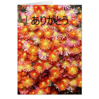 Thank you ありがとう in Japanese Card