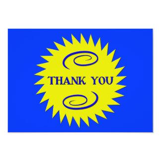 Thank you 13 cm x 18 cm invitation card