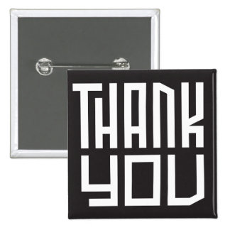 thank you 15 cm square badge