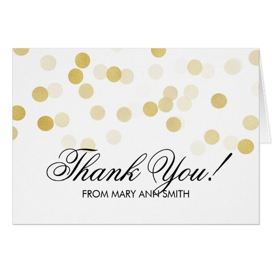 """Thank you"" 40th Birthday Gold Foil Glitter Lights"