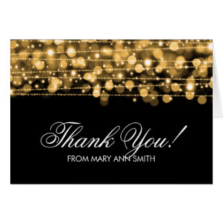 """Thank you"" 60th Birthday Party Sparkles Gold Card"