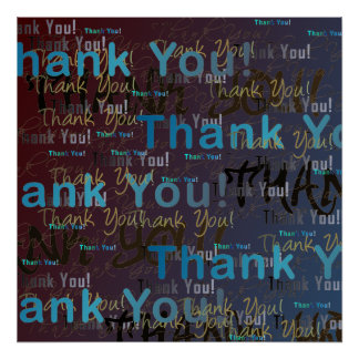Thank YOU! A Big Poster of Many Thanks!