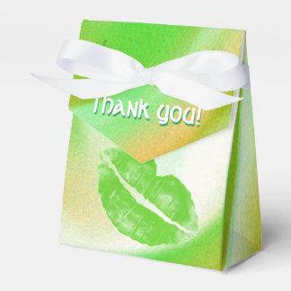 Thank You Abstract Irish Colors Green Orange White Favour Box