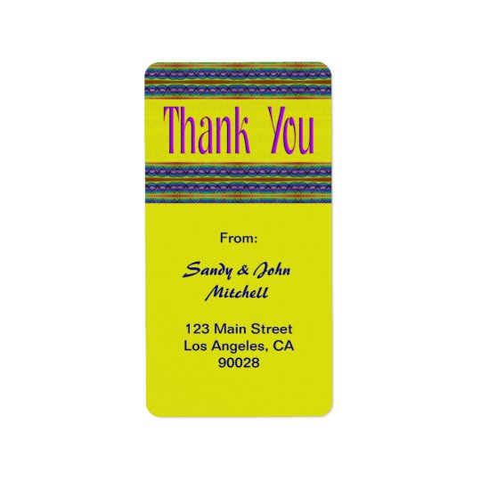 Thank You Address Label