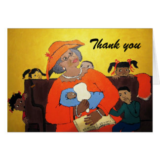Thank You African American Greeting Card Black Art
