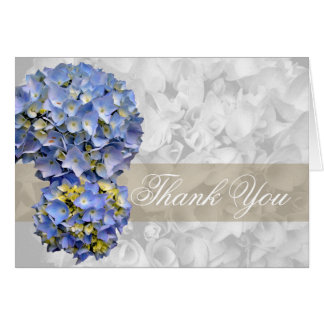 Thank You, Alpha Blue Hydrangea Folded Card