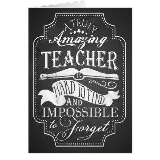 Thank you amazing teacher card appreciation week