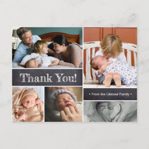 Thank You and Introducing Second baby Photos Announcement Postcard