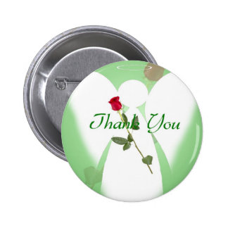 Thank you Angel 6 Cm Round Badge