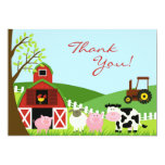Thank You Animals Card 13cm X 18cm Invitation Card