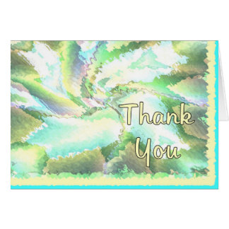 Thank You Art Colours Greeting Card