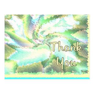 Thank You Art Colours Postcard