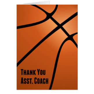 Thank You Assistant Basketball Coach for Hard Work Card