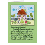 Thank You Assistant Principal-Smile on Our Faces Greeting Card