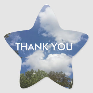 Thank You Astronomy Sky Cloud Scene Star Sticker
