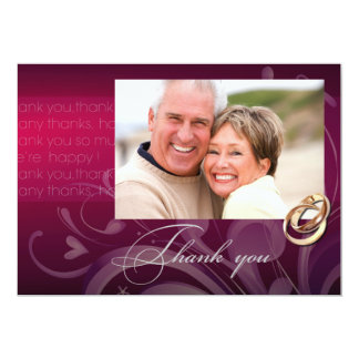 Thank You. Attending Anniversary Party Photo Card 13 Cm X 18 Cm Invitation Card