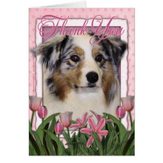 Thank You - Australian Shepherd Card