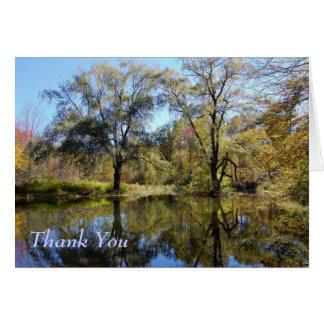 Thank you - Autumn Colors Greeting Card