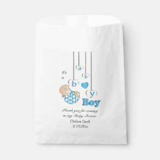 Thank You Baby Boy Shower Favour Bags