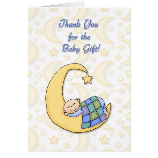 Baby Gift Cards Uk : Thank you baby gift card zazzle