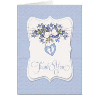 Thank You Baby Sympathy with Heart Tiny Foot Print Greeting Card