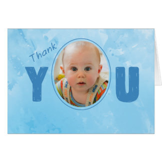 Thank You Baby's Godparent Blue, Personalize Name Card