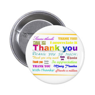 Thank You 6 Cm Round Badge
