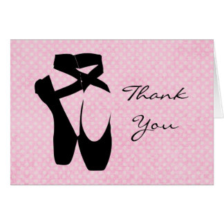 Thank You Ballet Shoes Card