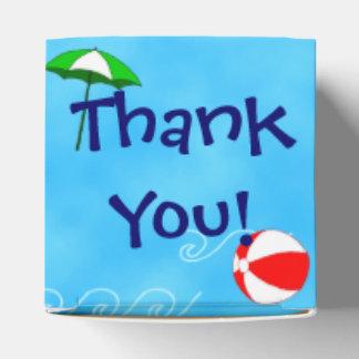 Thank You Beach Ball Pool Umbrella Party Favor Box