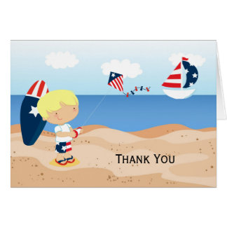 Thank You beach independence day party Card