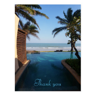Thank you Beach postcard