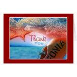 """""""Thank you"""" beach theme tropical cruise"""