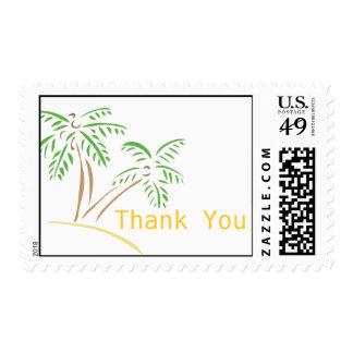 Thank You Beach Wedding Palm Trees Postage