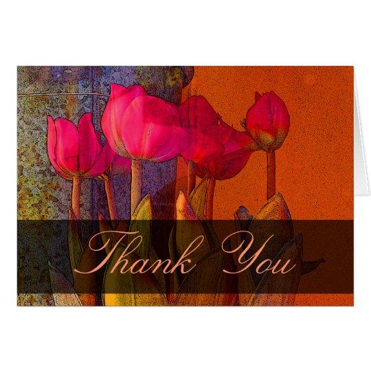 Thank You beautiful tulips Card