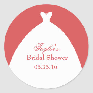 Thank You Beautiful Wedding Dress Classic Round Sticker