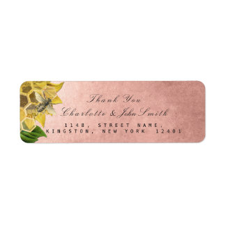 Thank You Bee Sunflower Return Address Labels