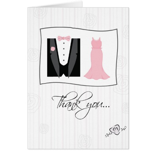 Thank You Being in Our Wedding, Tux, Dress,