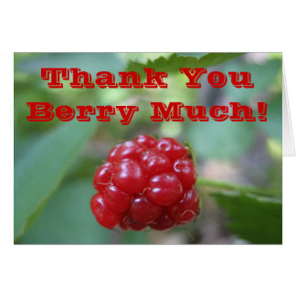 Thank You Berry Much - Say it With a Very Card